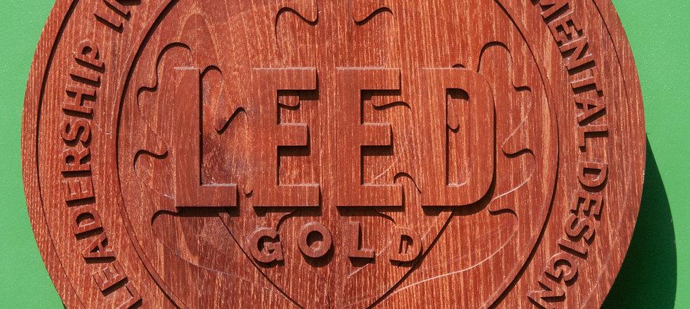 LEED Wooden Plaque (Black Locust)