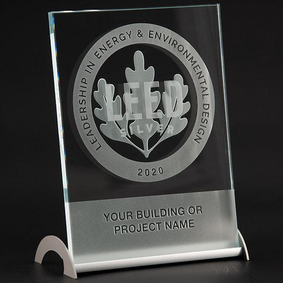 Personalized LEED desktop award 22 x 16 cm