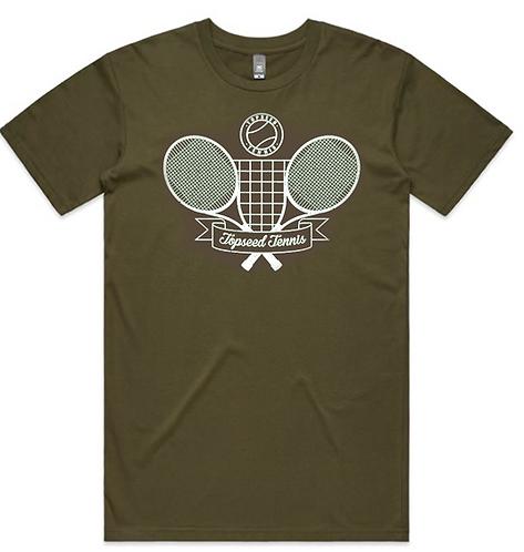 Adult Short Sleeve Cotton Tee - Vintage Logo