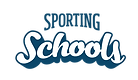Dark blue and white Sporting Schools logo