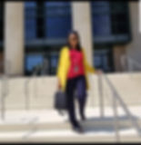 Belinda on courthouse steps.jpg
