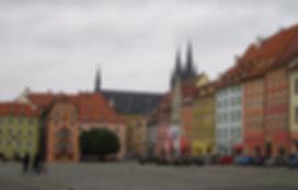 チェコの端、ヘプの街並み