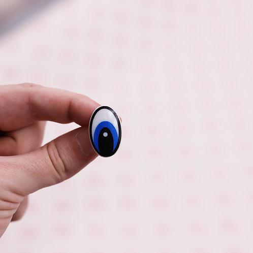 Yeux cartoon sécurisés bleu - 25  mm