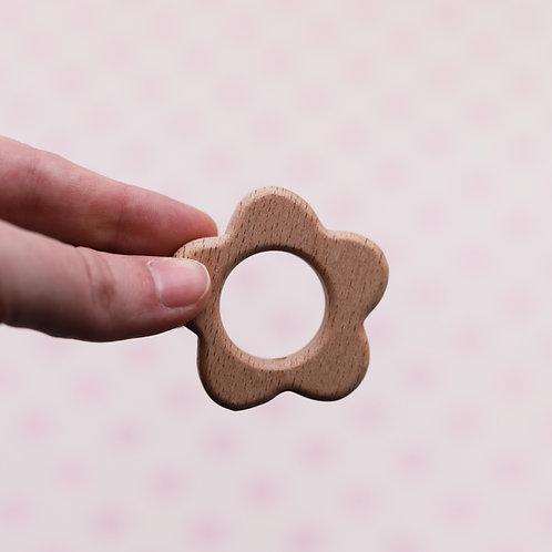 Elément de dentition pendentif en bois - fleur