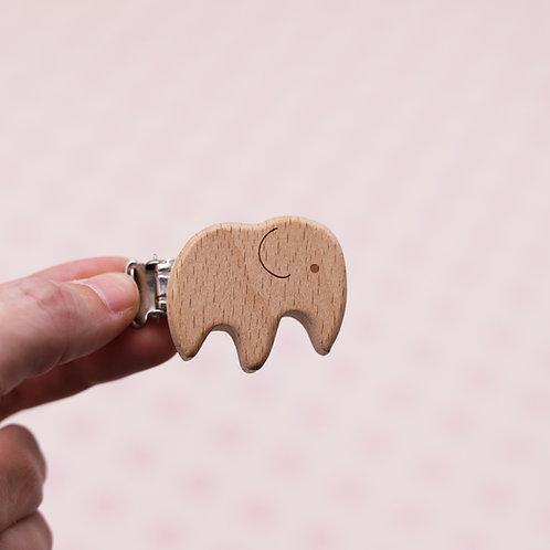 Attache en bois non traité - Eléphant