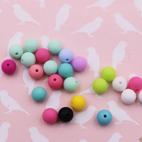 Perles rondes en silicone