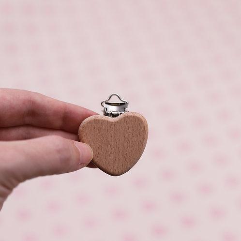 Attache en bois non traité - Coeur
