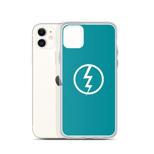 The Invincible Lighting Blue iPhone Case