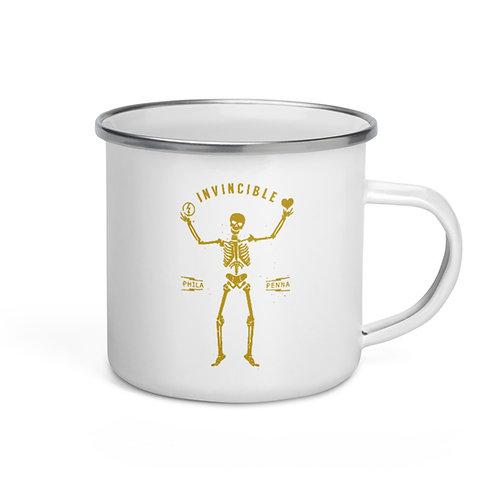 Invincible Skellington Enamel Mug