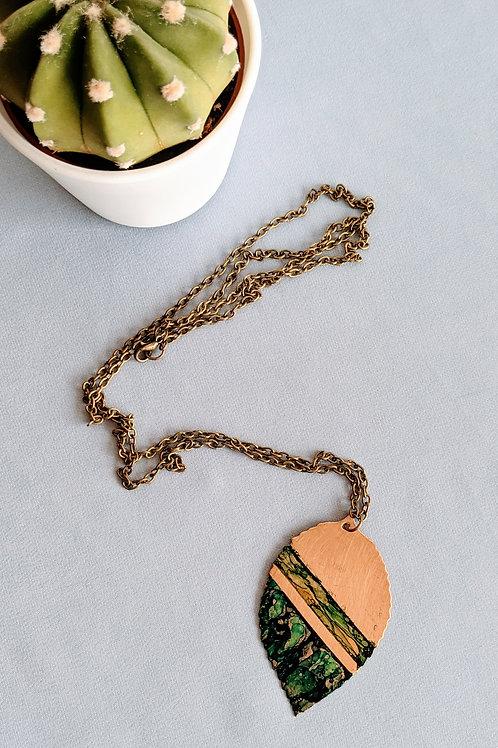 Ink leaf Necklace