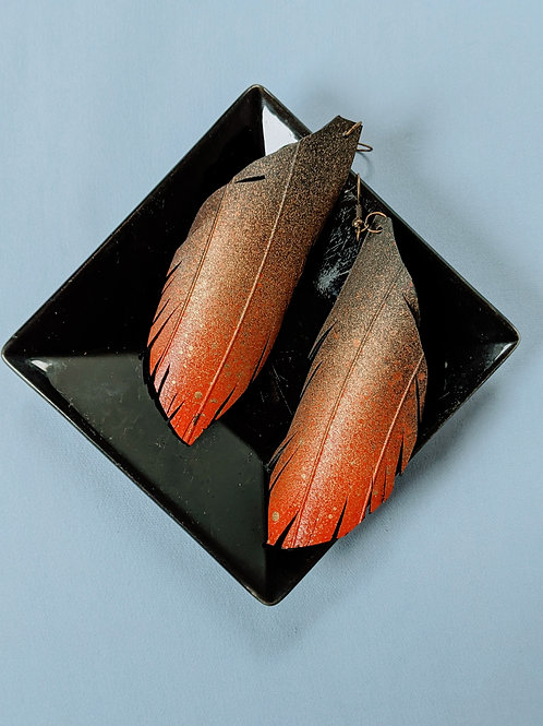 Fire Feather Tire Earrings