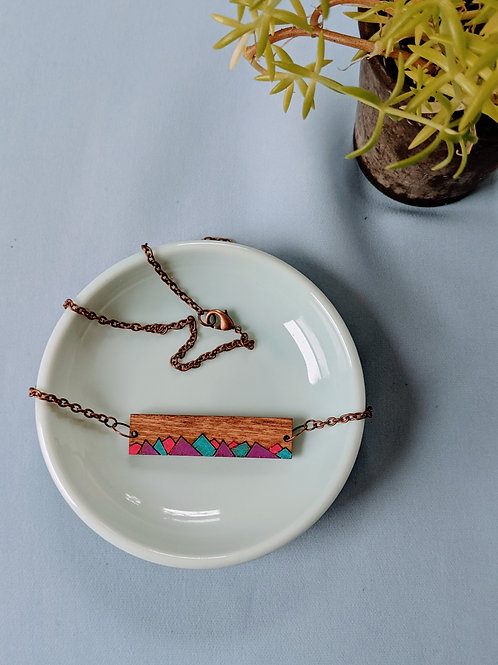 Colorful Mountain Necklace