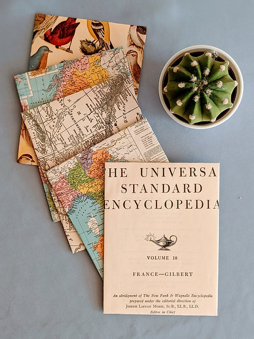 Maps Encyclopedia Note Cards