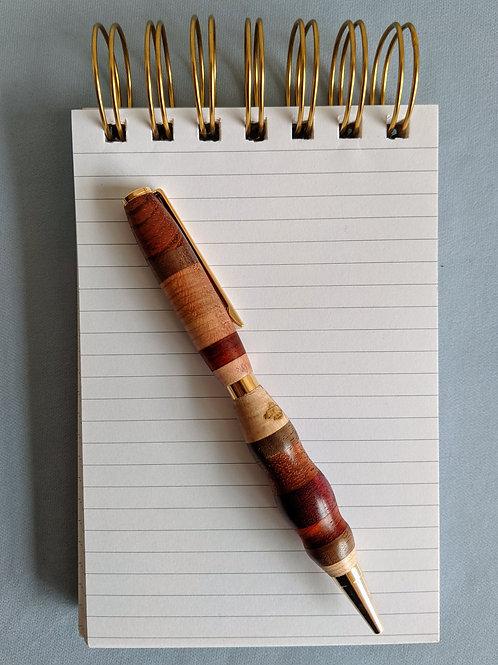 Wood Stripe Slimline Pen