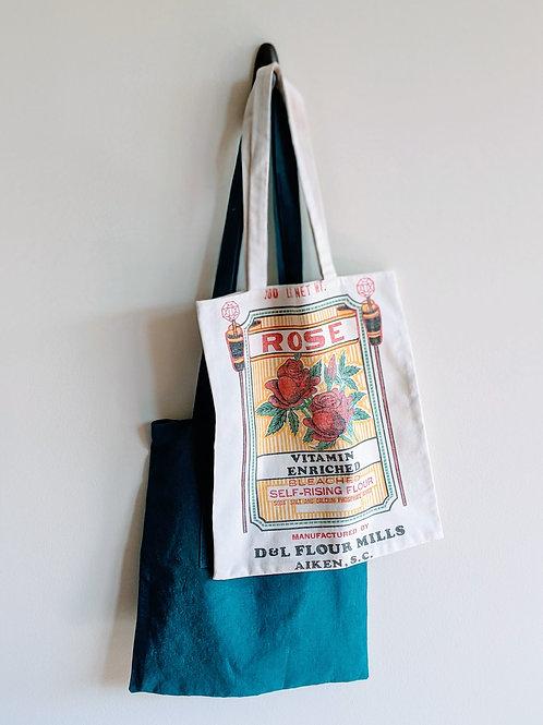 Repurposed Flour Sack Tote Bag
