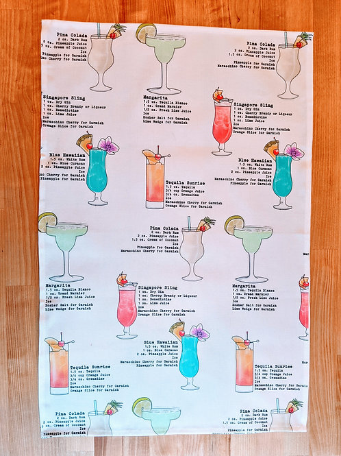 Tropical Cocktail Tea Towel