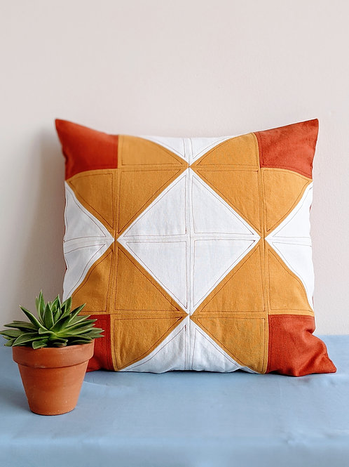 Geometric Linen Pillow Cover