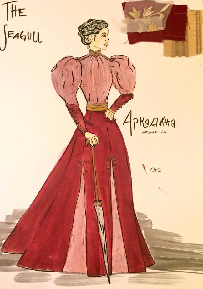 Arkadina, Act II