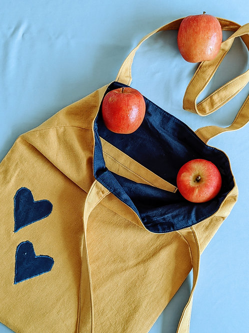 Linen and Hearts Tote Bag