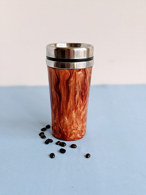 Red and Bronze Thermos