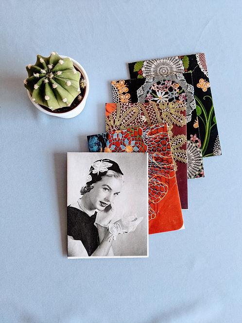 Retro Crochet Note Cards