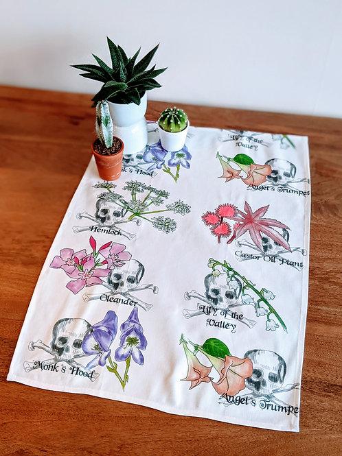 Deadly Flowers Tea Towel