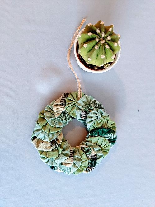 Mini Yo-yo Wreath