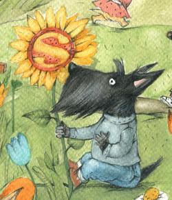 Sunflower Scot by Valeria
