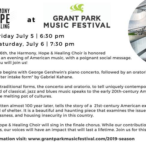 Harmony, Hope & Healing at Grant Park Music Festival