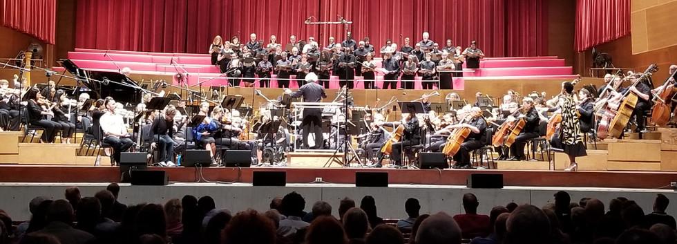 Choir singing with Grant Park Symphony