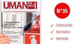 UMAN24 n.35 – Prevenzione incendi, aggiornamento (con pasticcio) di cinque regole verticali