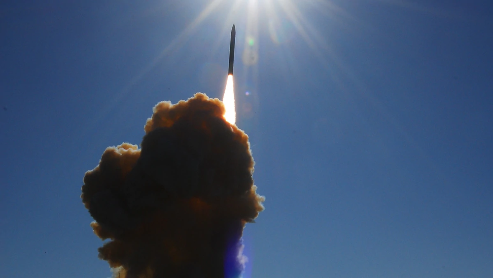 A ground-based interceptor is launched from Vandenberg Air Force Base, Calif., toward a ballistic missile target launched from Alaska during a test on Dec. 5, 2008. (U.S. Missile Defense Agency)