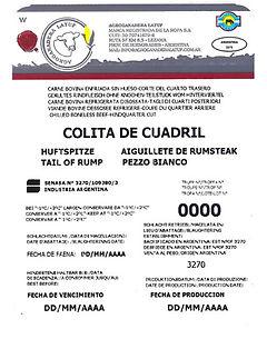 Huftspitze Tail of rump Aiguillete de rumsteak Pezzo bianco