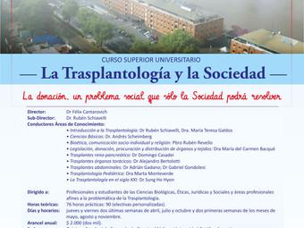 """Curso de Posgrado 2018 """"La Trasplantología y la Sociedad"""""""