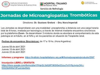 Jornadas Microangiopatías Trombóticas