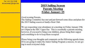 Jr. Sailing 2019 Parents Mtg