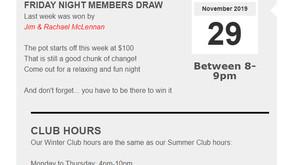 Members Draw & Hours