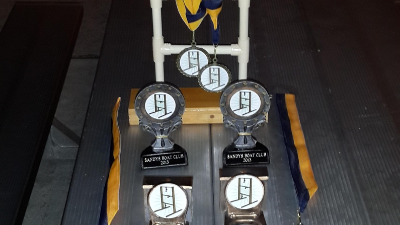 The trophies.