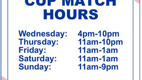 Cup Match Hours... Changed!!
