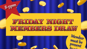 Member Draw - July 17 - 8pm - 9pm