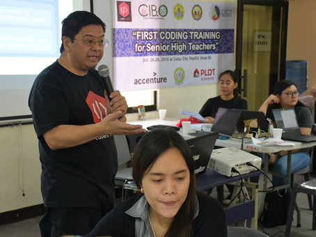 First Coding Training for SHS Teachers kicked-off in Cebu City
