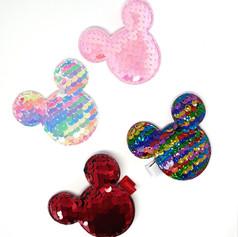 Hair Clip Mickey lantejoula