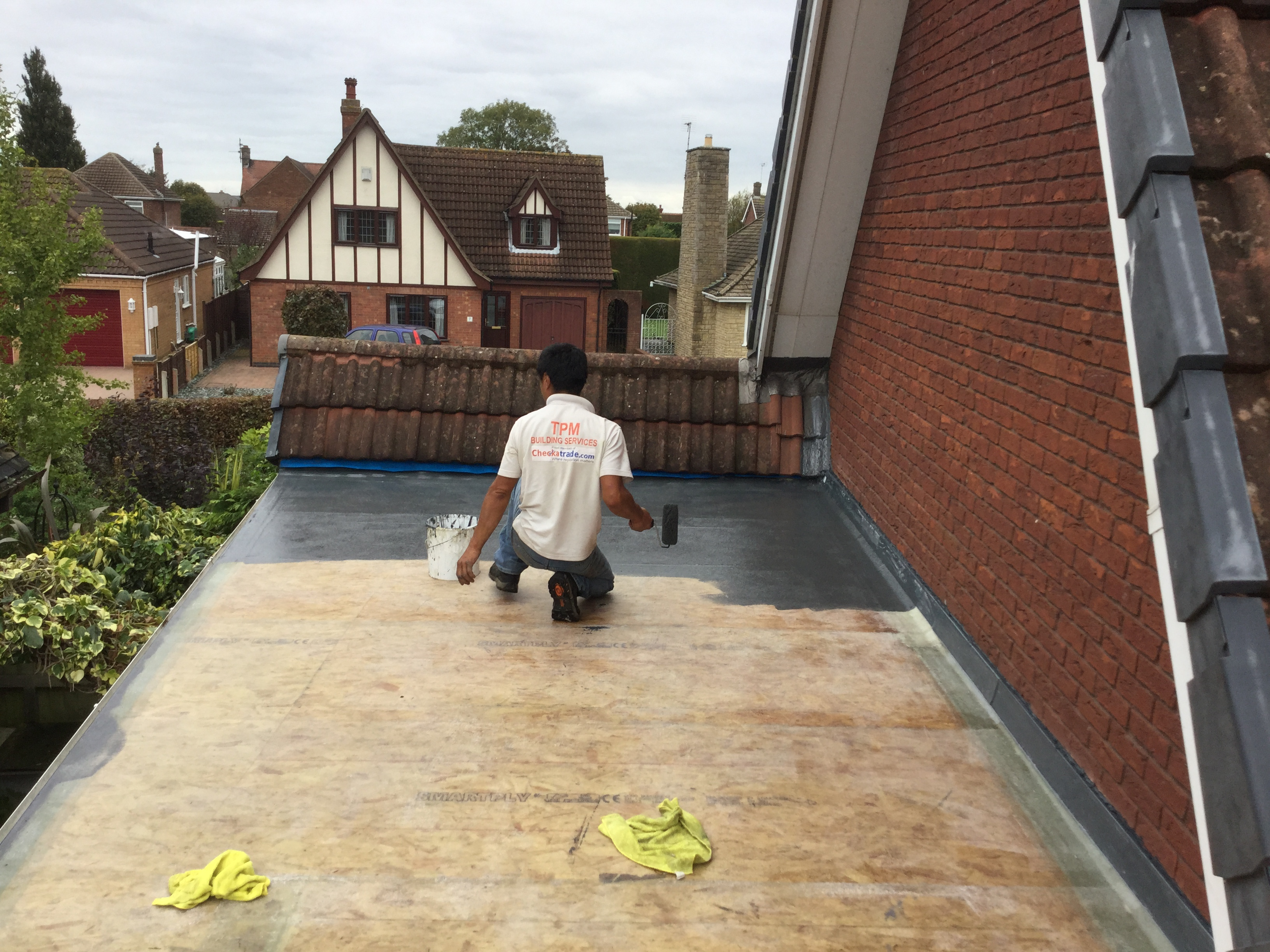 6. Applying roof finish