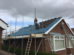 New roof to bungalow