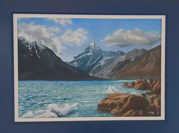 Mount Cook Glacier Lake