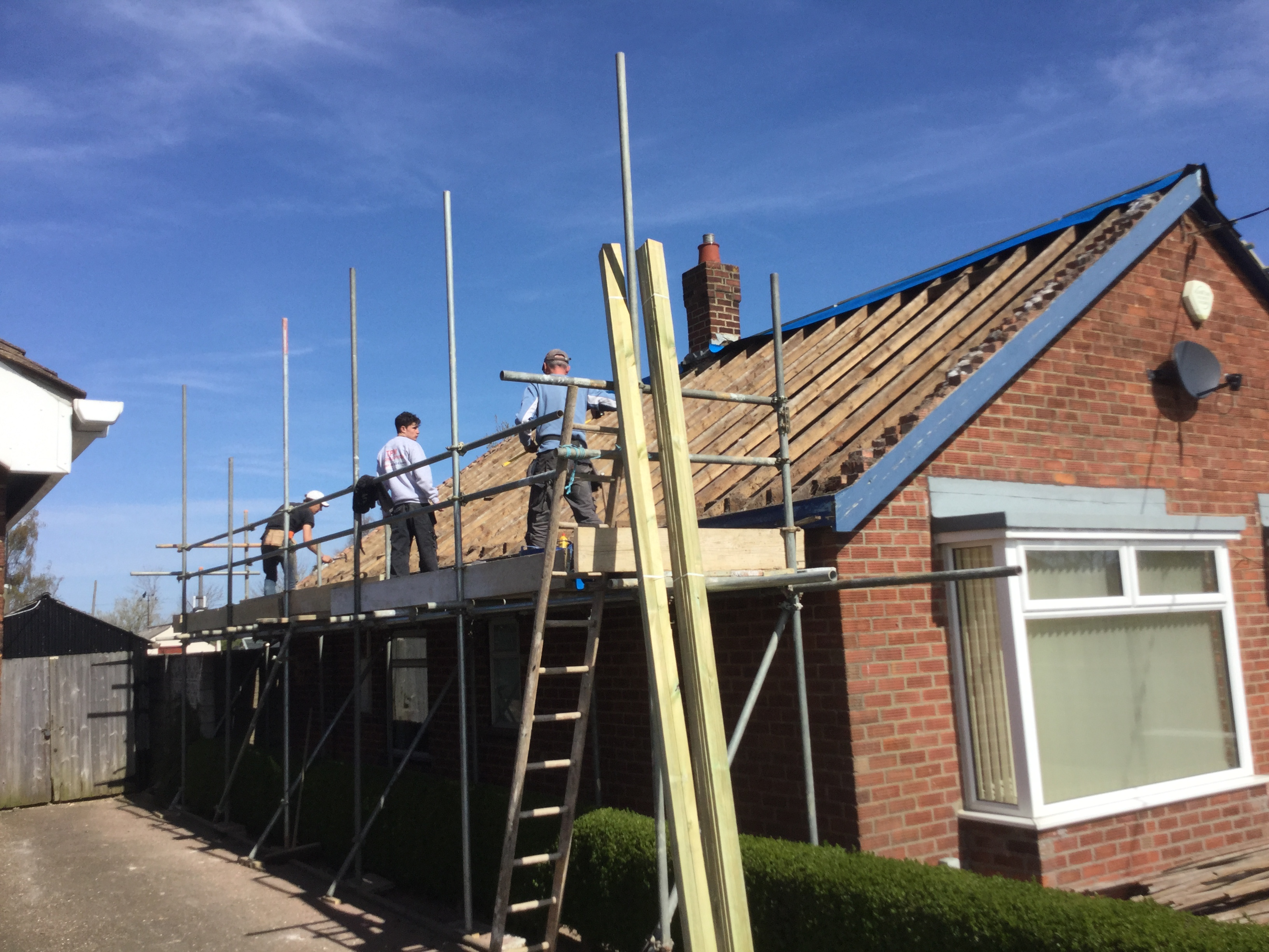 Existing bungalow roof stripped
