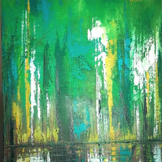 Woodland by Lake_