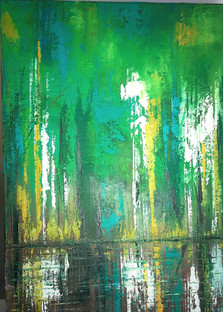 Woodland by Lake