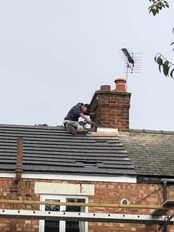 Dressing around chimney