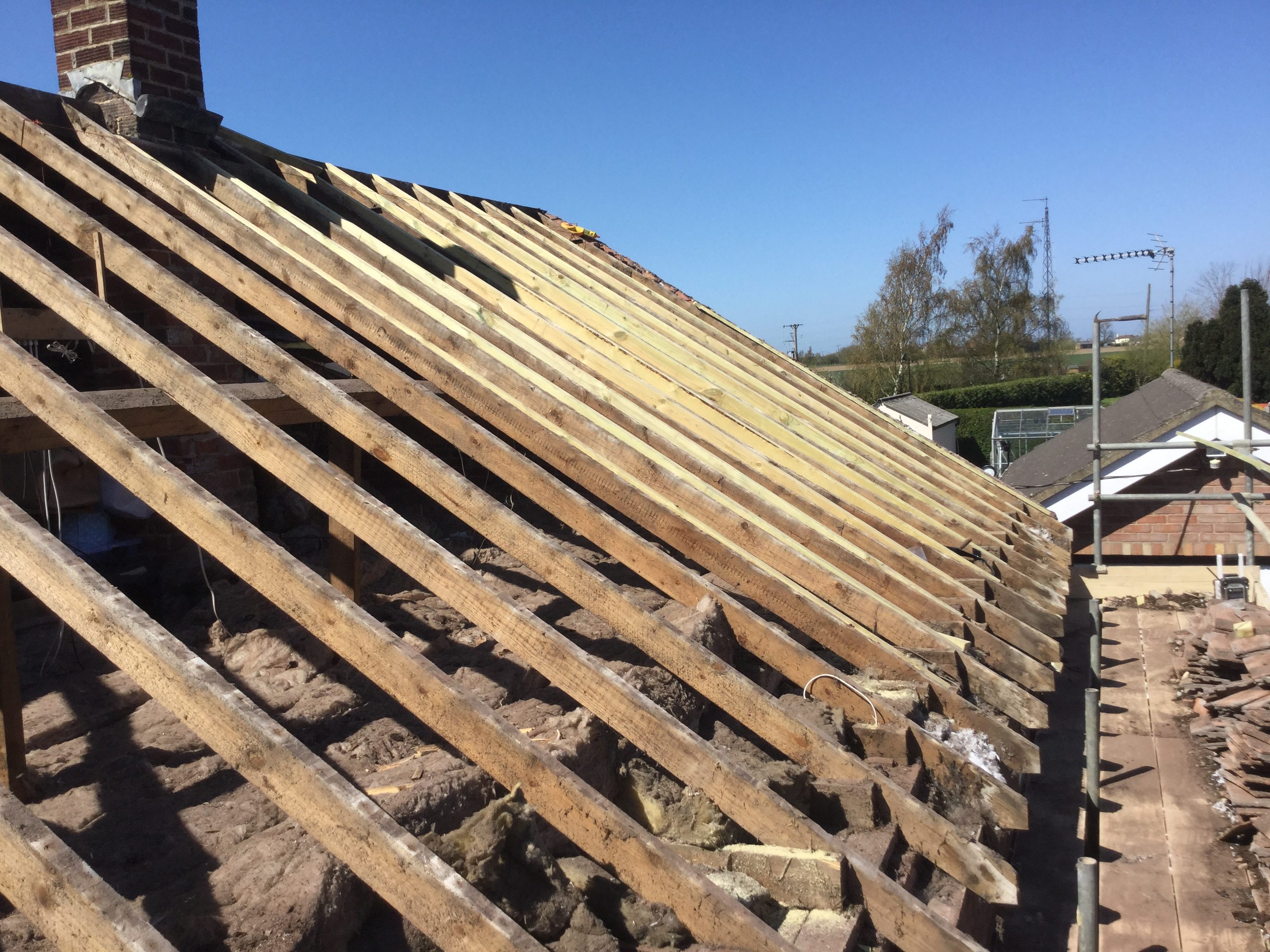 Existing roof stripped off